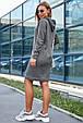 Молодежное женское платье 1219.3680 серый (S-L), фото 3