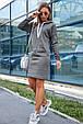 Молодежное женское платье 1219.3680 серый (S-L), фото 4