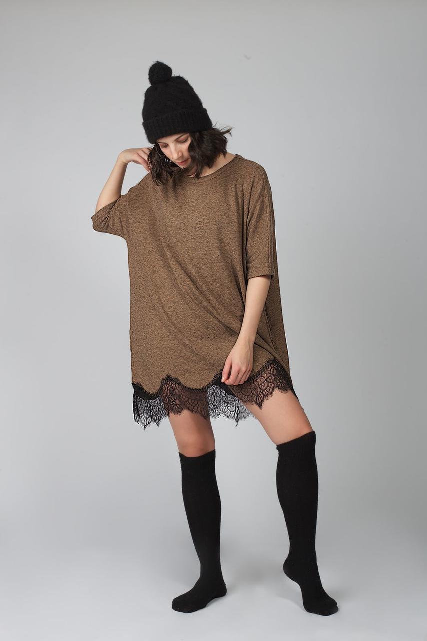 Сукня молодіжна Hays 30089 туніка з мереживом