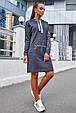 Удобное женское платье 1219.3681 синий (S-L), фото 2