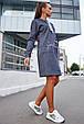 Удобное женское платье 1219.3681 синий (S-L), фото 5