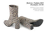 Женские ботинки на каблуке весна-осень, фото 5