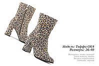 Женские ботинки на каблуке весна-осень, фото 1