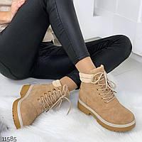 Ботинки женские Тимберленд бежевые, фото 1