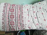 Одеяло полуторное овечья шерсть бязь Голд 150х210 Вышивка