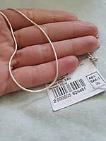 Срібний ланцюжок з плетінням Снейк, фото 1