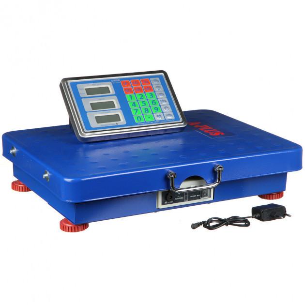 Весы торговые 300 кг электронные напольные c со счетчиком цены и беспроводным табло WI-FI