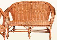 Плетеный диван ДЛ-7. Диван из лозы.