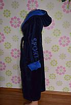 Купить недорого мужской банный халат коричневый, фото 3