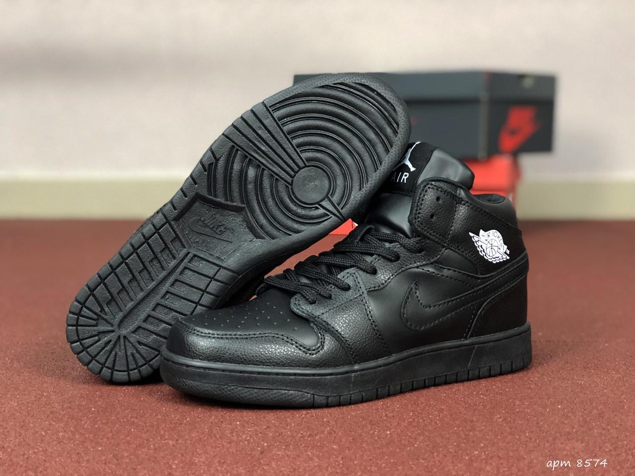 Чоловічі кросівки Nike Air Jordan 1 Retro (чорні)