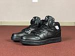 Чоловічі кросівки Nike Air Jordan 1 Retro (чорні), фото 2