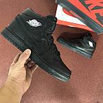 Чоловічі кросівки Nike Air Jordan 1 Retro (чорні), фото 4