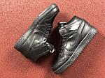 Чоловічі кросівки Nike Air Jordan 1 Retro (чорні), фото 5