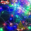 Новогодняя гирлянда-нить 400 Led 18 м (прозрачный провод, мульти)