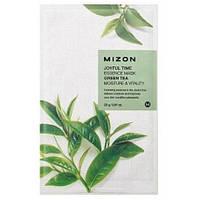 Тканевая маска с экстрактом зеленого чая Mizon Joyful Time Essence Mask Green Tea