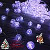 """Новогодняя гирлянда Штора """"Хрусталь"""" 200 Led белая 4 х 2 м (прозрачный провод)"""