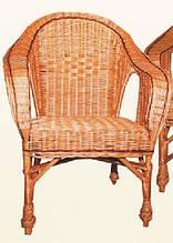 Кресло плетеное КО-7. Кресло из лозы.