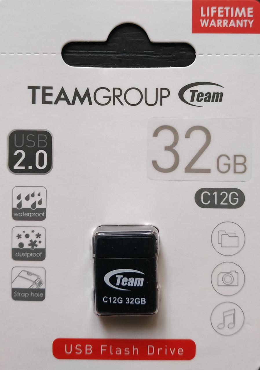 Флеш накопитель Team C12G 32 гб белый,черный