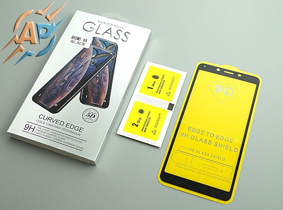 Защитное стекло 9D для Xiaomi Redmi 6 (Xiaomi Redmi 6A) черное