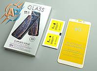 Защитное стекло 5D для Xiaomi Redmi 6 (Xiaomi Redmi 6A) белое