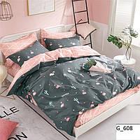 Двуспальное постельное бельё Розовый Фламинго