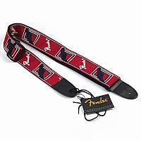 Ремень для гитары Fender красный, фото 1