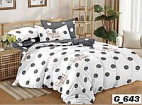 Двуспальное постельное бельё Горошек