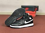 Жіночі кросівки Nike Air Jordan 1 Retro (чорно-білі), фото 2