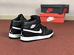 Жіночі кросівки Nike Air Jordan 1 Retro (чорно-білі), фото 4