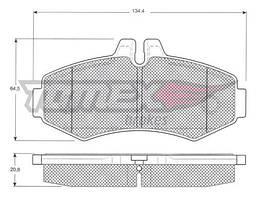 Тормозные колодки передние Mercedes Vito W638 | TOMEX