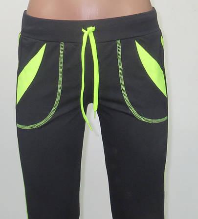 """Трикотажные спортивные брюки """"Стрелки"""" (черные)"""