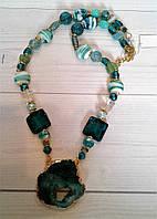 Красивый  подарок девушке  из натурального камня - Агат, фото 1