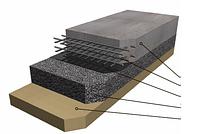 Полусухая цементная стяжка пола, с армированием