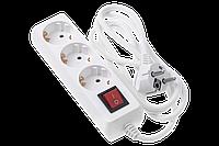 Сетевой фильтр-удлинитель 2E (2E-U03ESM1.8) 3хSchuko 1.8 м white