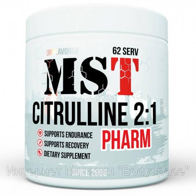 MST Sport Nutrition, Цитруллин Citrulline 2:1 Pharm Unflavored, 250 грамм