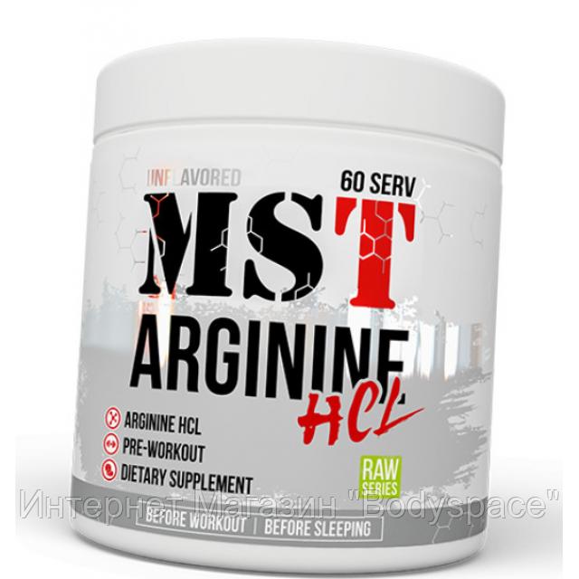 MST Sport Nutrition, Аргинин Arginine HCL Unflavored, 300 грамм