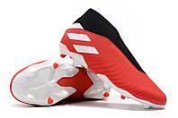 Футбольные бутсы adidas Nemeziz 19.3 Laceless FG Active Red/Silver/Solar Red, фото 1