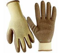 Перчатки рабочие с латексным покрытием размер XL