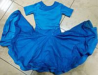 Гипюровый бейсик, рейтинговое платье для спортивно-бальных танцев с пышной юбкой