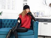 Женские вязаные шапки, кожаные перчатки - все по 400 гривен
