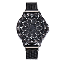 Женские часы магнит, цветок вращается 7901909-5 код (41722)