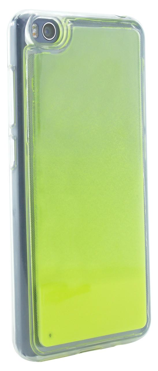 Чехол накладка NZY для Xiaomi Redmi GO TPU Жидкий ночной песок Ярко Желтый (126049)