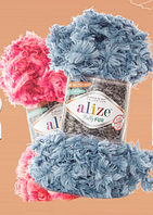Турецкая фантазийная пряжа Puffy Alize fur все цвета