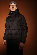 Мужская зимняя классическая куртка Pronto (Black), теплая стеганая куртка на зиму