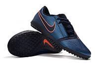 Футбольные сороконожки Nike Phantom VNM Club TF Obsidian/White/Black/Racer Blue, фото 1