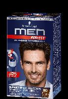 Мужская гель-краска Schwarzkopf  Men Perfect №80 черно-каштановый