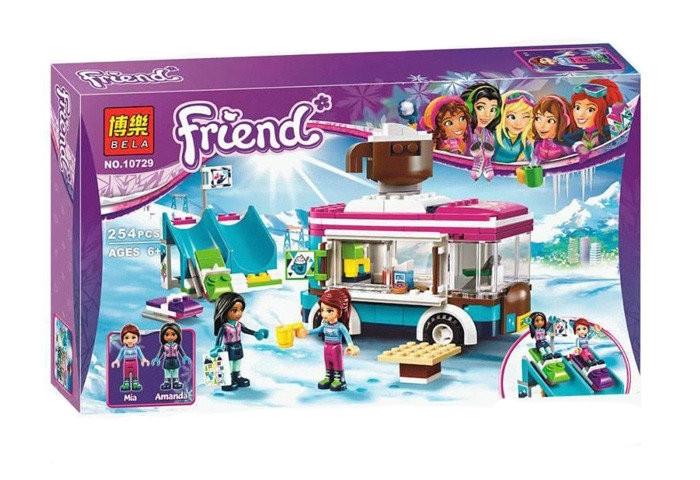 """Конструктор Bela 10729 """"Фургончик по продаже горячего шоколада"""" (аналог Lego Friends 41319), 254 дет"""