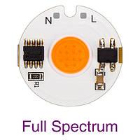 Светодиодный фито модуль COB LED 3Ватт AC220 27mm для растений, фото 1