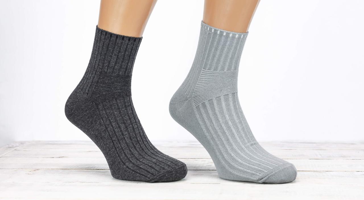 Чоловічі середні носки шкарпетки Kardesler для діабетиків однотонні розмір 43-46 12 шт в уп мікс з 4х кольорів