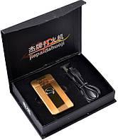 """Сделай себе подарок! Электоимпульсивная зажигалка """"Jaguar"""" №4342 gold + USB в подарок Успей приобрести"""